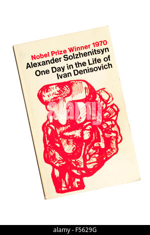 Paperback copy of One Day in the Life of Ivan Denisovich by Alexander Solzhenitsyn.  First published in the Soviet - Stock Photo