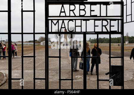 14.04.2015, Oranienburg, Brandenburg, Germany - Memorial on the site of the former Nazi concentration camp Sachsenhausen - Stock Photo