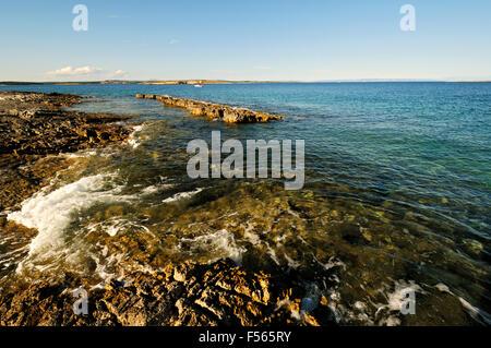 Rocky beach at Cape Kamenjak, Istria, Croatia - Stock Photo