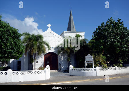 Elmslie Memorial United Church in George Town, Grand Cayman, Cayman Islands, Caribbean - Stock Photo