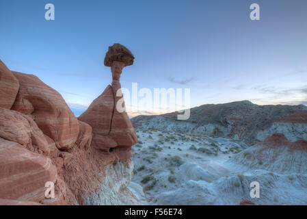 Toadstools hoodoo rock formation in southern Utah's Grand Staircase Escalante National Monument. - Stock Photo