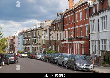 Willow Road in Hampstead, London England United Kingdom UK - Stock Photo