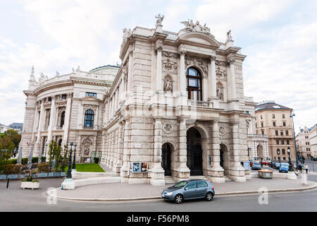 VIENNA, AUSTRIA - SEPTEMBER 29, 2015: side view of Burgtheater Vienna (Imperial Court Theatre), Austria. It is the - Stock Photo