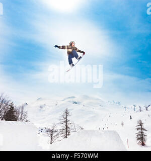 Free style snowboarder - Stock Photo
