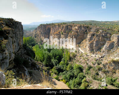 Canyon of Alhama de Granada, southern Spain - Stock Photo