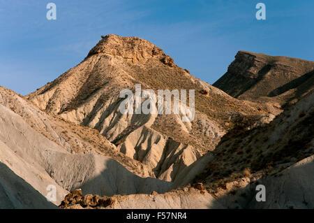 Natural Spot Tabernas Desert, Almeria province, Region of Andalusia, Spain, Europe - Stock Photo
