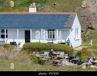 Kynance Cove Cafe On The South Coast Of Cornwall Uk In