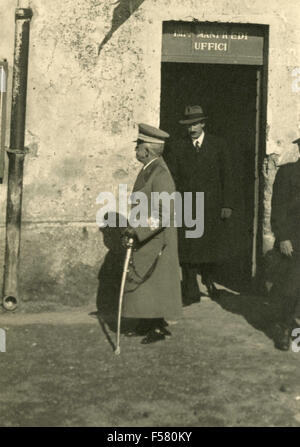 The king of Italy, Vittorio Emanuele III visited the sites of Rome Littorio, Italy - Stock Photo