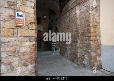 Mugnano, village of the painted walls, Umbria, Italy - Stock Photo