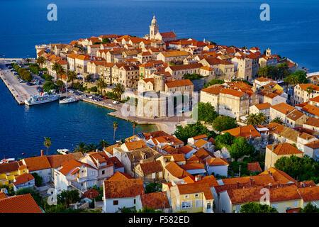 Croatia, Dalmatia, Korcula island, Korcula city - Stock Photo