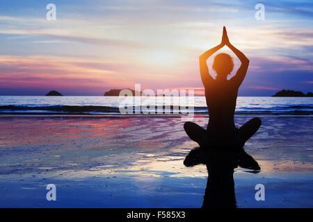 beautiful yoga and meditation background - Stock Photo