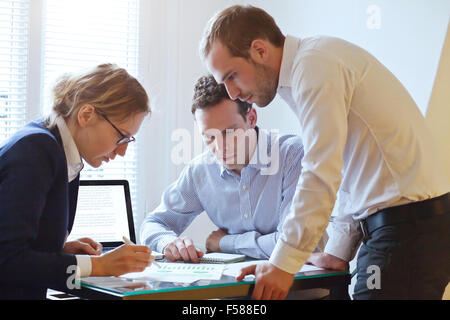 business team working on a project - Stock Photo