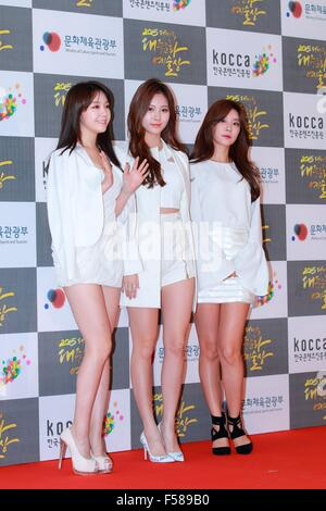 Seoul, South Korea. 29th Oct, 2015. Korean popular culture and Art Award is holding in Seoul, South Korea on 29th - Stock Photo