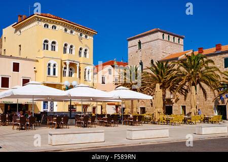 Croatia, Kvarner bay, island and city of Rab - Stock Photo