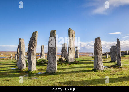 Stone circle at Callanish, Isle of Lewis, Western Isles, Outer Hebrides, Scotland, UK - Stock Photo