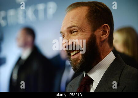 Moscow, Russia. 29th Oct, 2015. English actor Ralph Fiennes attends the Moscow premiere of a James Bond 007 film - Stock Photo