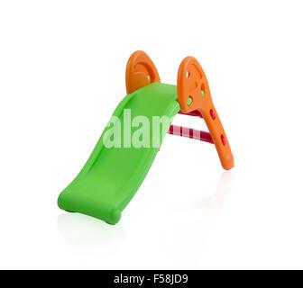 Children slide isolated on white background - Stock Photo