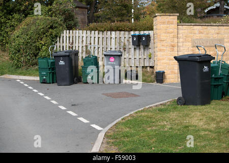 Refuse and recycling bins - Stock Photo
