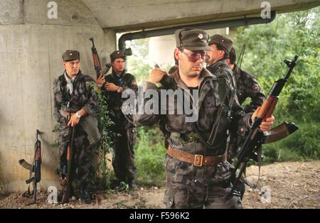 war in ex Yugoslavia, Slovenian militia during the independence war of July 1991 - Stock Photo