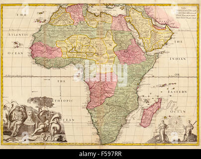 Modern Map - Africa continent with frontiers Stock Vector Art ...