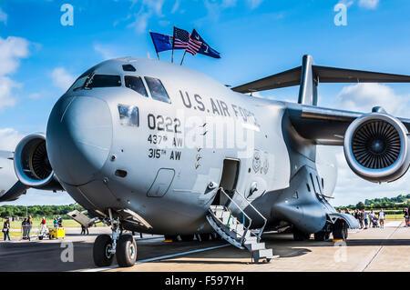 McDonnell Douglas/Boeing C-17 Globemaster III on static display - Stock Photo