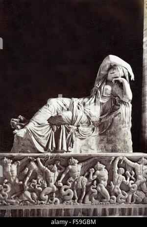 Statue of Sleeping Ariadne, Rome, Italy - Stock Photo