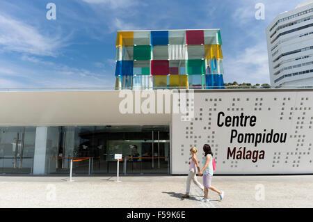 Malaga, Spain. Centre Pompidou Málaga. - Stock Photo