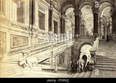 The starway of the Reggia di Caserta, Italy - Stock Photo