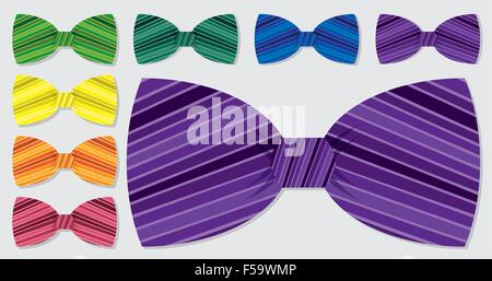 Retro bow tie set in vector format. - Stock Photo