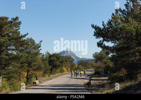 Bikers near La palude du Verdon - Stock Photo