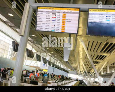 Terminal 4 at John F. Kennedy International Airport, New York - Stock Photo