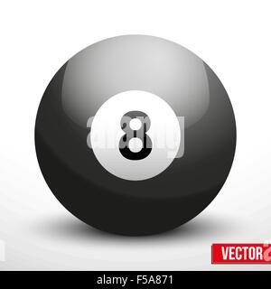 black ball sphere for billiards vector - Stock Photo