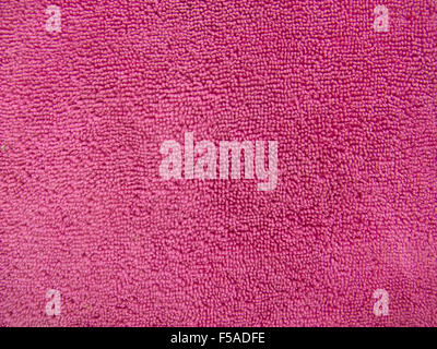 Pink towel texture, cloth background - Stock Photo