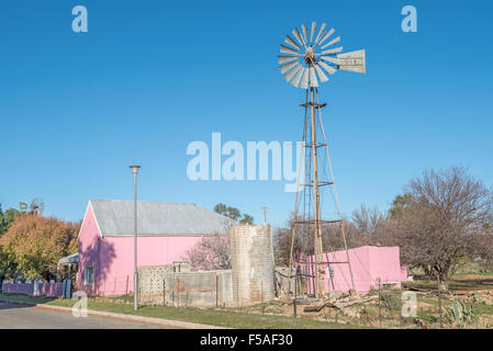 CALVINIA, SOUTH AFRICA - AUGUST 10, 2015: A late afternoon street scene in Calvinia, a small town in the Northern - Stock Photo