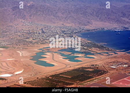 Aqaba, Jordan, Aerial view - Stock Photo