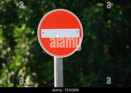 No entry traffic sign - Stock Photo