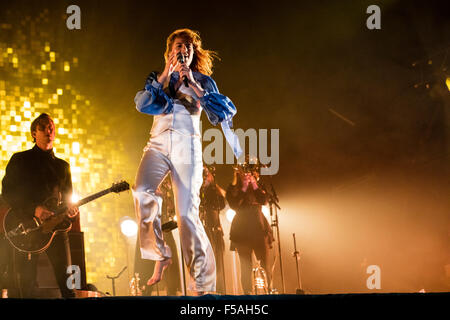 2015 Mercury Prize nominee Florence Welch of Florence and the Machine live at Electric Picnic festival, 6th of September - Stock Photo