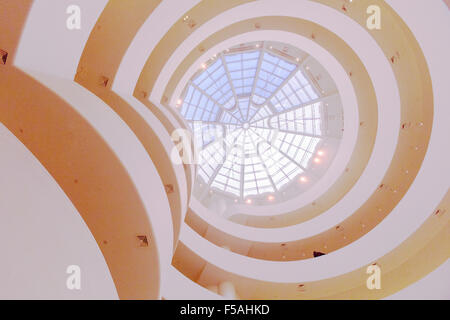 The Guggenheim Museum in New York City, United states of America. Designed by Frank lloyd Wright. - Stock Photo