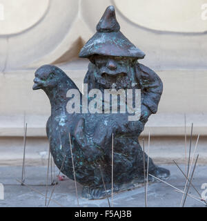 Pigeon-keeper dwarf in Wroclaw, Poland. - Stock Photo