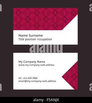 Business card layout linear geometric logo and pattern editable business card layout linear geometric pattern editable design template stock photo wajeb Gallery