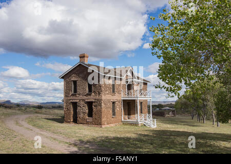 Fort Davis National Historic Site, Texas, one of the best surviving examples of an Indian Wars' frontier military - Stock Photo