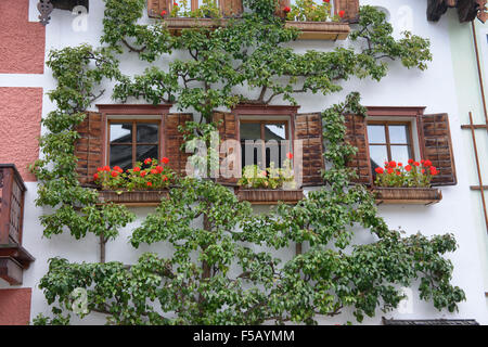 Village scenes from charming Hallstatt, Salzkammergut, Austria - Stock Photo
