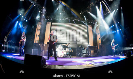 Assago Milan Italy. 31th October 2015. The British rock band DEEP PURPLE performs live on stage at Mediolanum Forum - Stock Photo