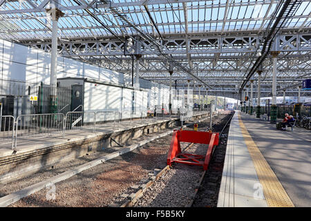 End of the line.Waverley station.Edinburgh. - Stock Photo