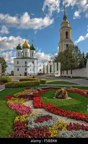 Square in historical part of the ancient russian town Kolomna - Stock Photo