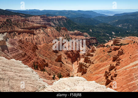 Views of bizarre sandstone erosions in Amphitheater, Cedar Breaks National Monument, Utah, USA - Stock Photo