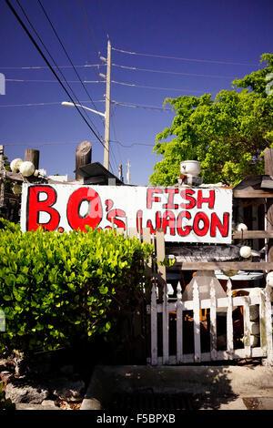 Bo's Fish Wagon restaurant Key West, Florida, USA - Stock Photo