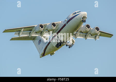 ZE700 is a BAe 146-100 operated by the RAF's No.32 (The Royal) Squadron from RAF Northolt, carrying the Royal Family - Stock Photo