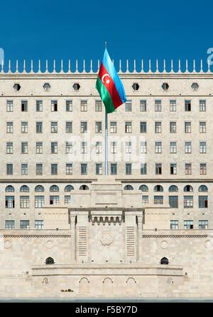 The Government House building on Neftcilar Avenue in Baku, the capital of Azerbaijan. - Stock Photo