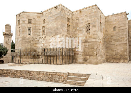 Palace of the Shirvanshahs in Icheri Sheher, the old town in Baku, capital of Azerbaijan. - Stock Photo